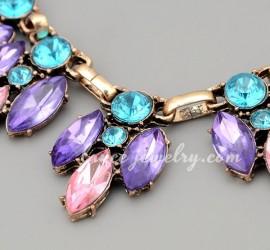 collar cristales de cadena suculentas